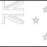 New Zealand Flag Colouring Page