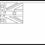 Niue Flag Colouring Page