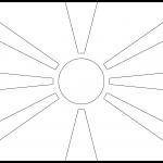 North Macedonia Flag Colouring Page