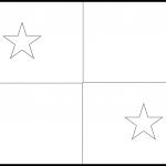 Panama Flag Colouring Page
