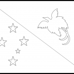 Papua New Guinea Flag Colouring Page
