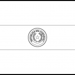 Paraguay Flag Colouring Page
