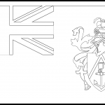 Pitcairn Islands Flag Colouring Page