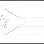 Puerto Rico Flag Colouring Page