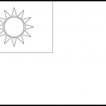 Republic of China Flag Colouring Page