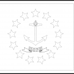 Rhode Island Flag Coloring Page – State Flag Drawing