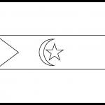 Sahrawi Arab Democratic Republic Flag Colouring Page