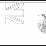 Saint Helena Flag Colouring Page