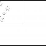 Samoa Flag Colouring Page