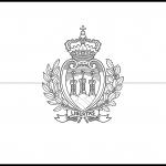 San Marino Flag Colouring Page