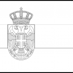 Serbia Flag Colouring Page