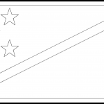 Solomon Islands Flag Colouring Page