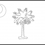 South Carolina Flag Coloring Page – State Flag Drawing