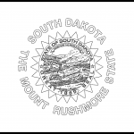 South Dakota Flag Coloring Page – State Flag Drawing