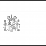Spain Flag Colouring Page