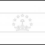 Tajikistan Flag Colouring Page