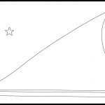 Tokelau Flag Colouring Page