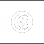 Tunisia Flag Colouring Page