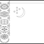 Turkmenistan Flag Colouring Page