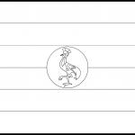 Uganda Flag Colouring Page