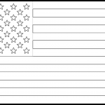 United States Flag Colouring Page