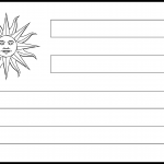 Uruguay Flag Colouring Page