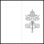 Vatican City Flag Colouring Page