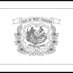 West Virginia Flag Coloring Page – State Flag Drawing